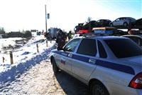 """На трассе М2 автомобиль """"скорой"""" столкнулся с автовозом., Фото: 9"""