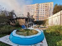На ул. Баженова в Туле крупный пожар уничтожил жилой дом, Фото: 5