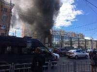 Загорелся недостроенный ТЦ на Красноармейском проспекте, Фото: 1