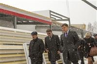 Губернатор посетил строящийся в Богородицке ФОК. 1 апреля 2014, Фото: 7