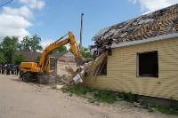 В Плеханово начали сносить дома в цыганском таборе, Фото: 147