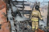 Пожар в цехе производства гробов на Веневском шоссе в Туле, Фото: 9