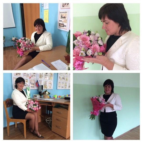 Прекрасные цветы от учеников)))) Потому что я учитель)))