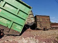В Тульской области грузовой поезд сошел с рельсов, Фото: 10