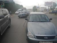 На Новомосковском шоссе столкнулись три автомобиля, Фото: 10