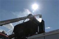 Пожар на хлебоприемном предприятии в Плавске., Фото: 28