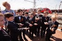 Открытие монумента и бронепоезда на Московском вокзале. 8 мая 2015 года, Фото: 91