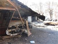 Сгоревшие сараи на улице Немцова в Туле, Фото: 5