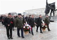 Возложение цветов к памятнику на площади Победы. 21 февраля 2014, Фото: 14