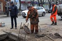 Прорыв водовода на пр. Ленина, Фото: 15