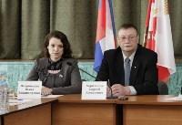 В Донском Алексей Дюмин вручил школе искусств сертификат на покупку домры, Фото: 1