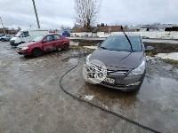 В Туле Mercedes повалил фонарный столб, Фото: 13