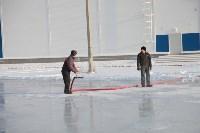 Инспектирование катка в Щёкино. 29.12.2014, Фото: 1