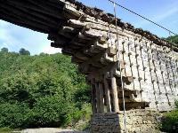 Деревянный мост в Джули, Дагестан, Фото: 8