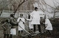 Патологоанатомы на субботнике, 1980-е годы., Фото: 20