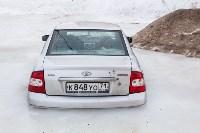 Машина вмерзла в лед, Фото: 12
