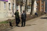 Ремонт дороги на ул. Демьянова. 12 апреля 2016 года, Фото: 3