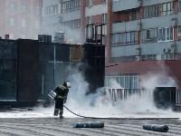 Загорелся недостроенный ТЦ на Красноармейском проспекте, Фото: 57