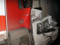 Ночью на трассе М2 в Заокском районе столкнулись 6 автомобилей, Фото: 1