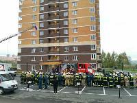 Тульские пожарные провели соревнования по бегу на 22-этаж, Фото: 20