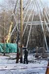 Монтаж колеса обозрения в ЦПКиО. 25 февраля 2014, Фото: 6