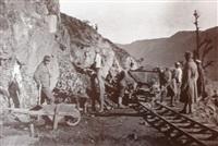 Русские солдаты на строительстве железной дороги., Фото: 71