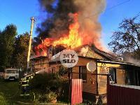 На ул. Баженова в Туле крупный пожар уничтожил жилой дом, Фото: 4
