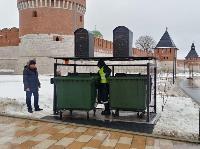 На Казанской набережной впервые в Туле поставили подземную мусорную площадку, Фото: 8