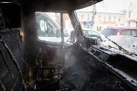 """Грузовой """"Мерседес"""" сгорел на Советской, Фото: 3"""