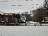 Улица Металлургов в Туле встала в пробке из-за ДТП с автобусом, Фото: 3