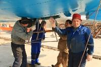 Установка копии Ла-5ФН на несущую опору мемориала «Защитникам неба Отечества» , Фото: 3