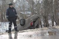 В Скуратово перевернулась иномарка., Фото: 10