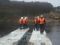 Монтаж моста в Архангельской области, Фото: 25