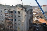 У дома, поврежденного взрывом в Ясногорске, демонтировали опасный угол стены, Фото: 49