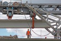 Восточный обвод: Строительство моста через Упу, Фото: 7