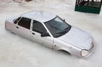 Машина вмерзла в лед, Фото: 1