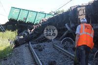 В Тульской области грузовой поезд сошел с рельсов, Фото: 7
