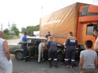 Под Щекино «шестёрка» залетела под грузовик, Фото: 2