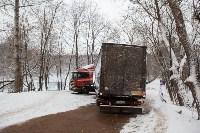 В Туле возле Платоновского парка застряла фура, Фото: 6