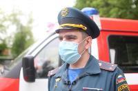 В Туле сотрудники МЧС эвакуировали госпитали госпиталь для больных коронавирусом, Фото: 61