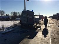 Автомобиль «скорой помощи» столкнулся с грузовиком, Фото: 5