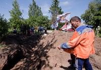 Останки бойцов в деревне Криволучье, Фото: 71