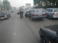 На Новомосковском шоссе столкнулись три автомобиля, Фото: 3