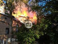 На ул. Баженова в Туле крупный пожар уничтожил жилой дом, Фото: 2