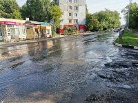 В Пролетарском районе Тулы затопило улицы и дворы: вода хлещет из колодцев, Фото: 5