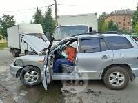 Двойная авария в Пролетарском районе Тулы, Фото: 2