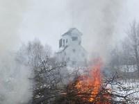 Тульские огнеборцы ликвидировали условное  возгорание в селе Прудное, Фото: 10