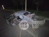 Крупное ДТП на ул. Металлургов в Туле: Nissan снес столб, пассажирку вышвырнуло из машины, Фото: 8