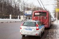 Бесхозный пакет в троллейбусе, Фото: 16