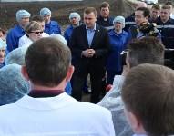 Алексей Дюмин ответил на вопросы сотрудников ООО «Воловский бройлер», Фото: 5